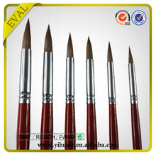 Professional Round Shape Nylon Synthetic Artist Brush in Stock