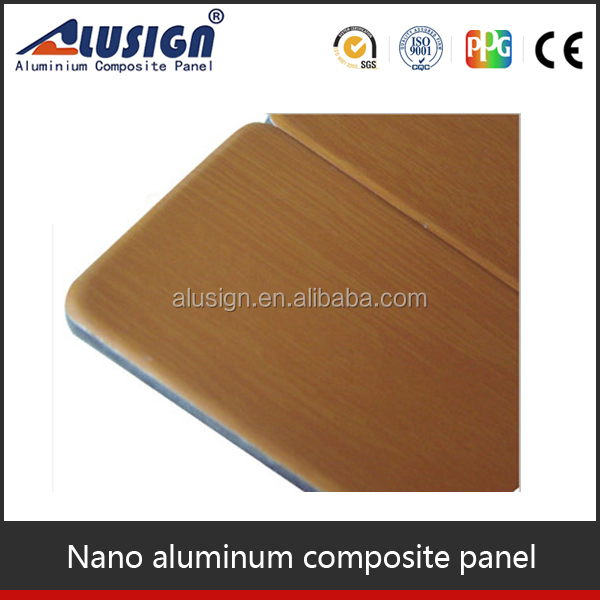Alusign anti-corrosion nano PVDF coating building facade acp aluminum construction material
