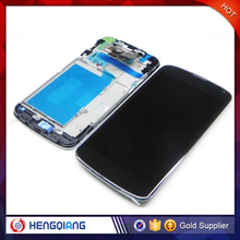 Best quality LCD digitizer assembly Google Nexus 4 WITH frame for LG E960