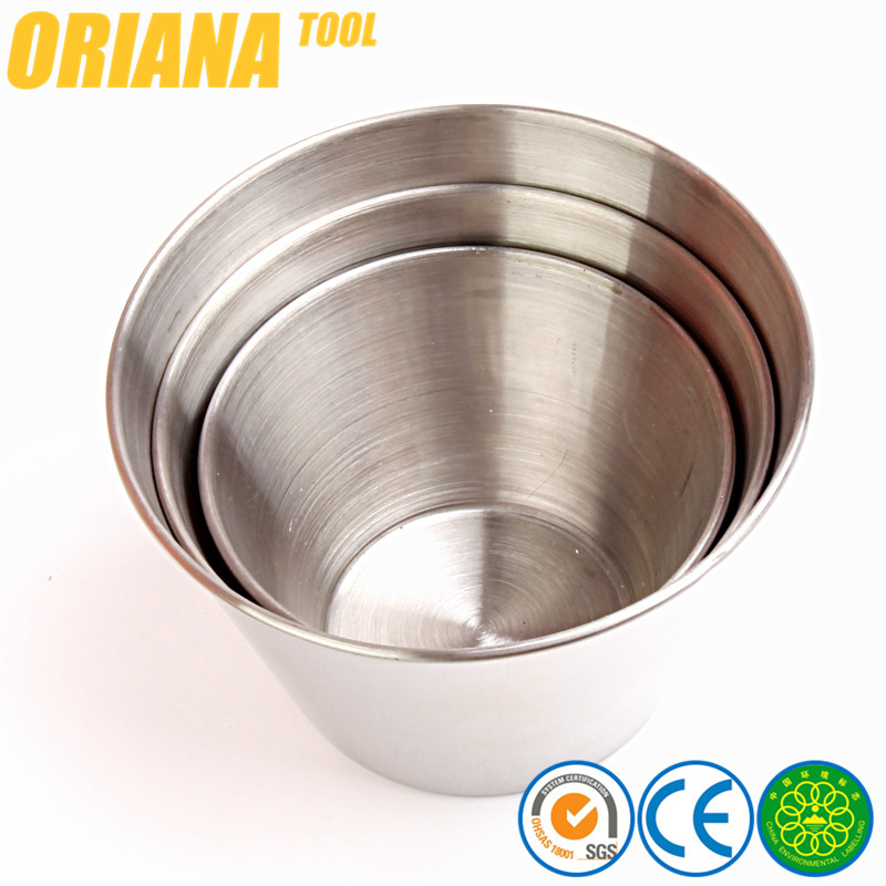 Cup Type and Stainless Steel Cup Metal Material High Quality Small Metal Sauce Bowl Cup Saucer
