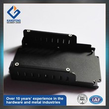 Custom black powder coating output battery charger base aluminum chassis