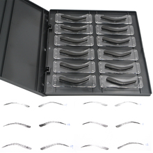 Professional 12 Styles Eyebrow Tattoo Shaping Stencil Kit 3D Effect Eyebrow Shape Design Eyebrow Stamp Tattoo Stencil