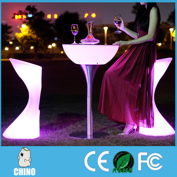Waterfpoof led table light up table bar furniture led coffee table