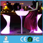 Waterfpoof led table lumière up table bar meubles led table basse