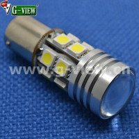 ba15s led car lamp blinker 12smd 5050 + 5w s25 led car tail lamp