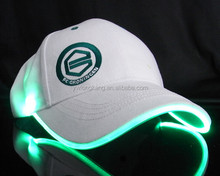 2014 Yiwu custom snapback hats wholesale el caps led flashing caps