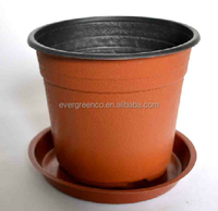 Thermoform plastic flower pot