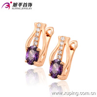 Xuping Fashion Jewelry Rose Gold Plated Jewelry Hoop Earrings 29256 indian jewellery