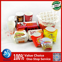 Fast food paper packaging/fried chicken packaging/disposable food packaging