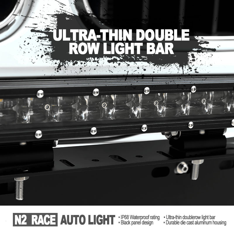 N2 RACE AUTO factory wholesale led 4x4 parts for jeep xj curved light bar 50'' SLIM double row 288w suv offroad