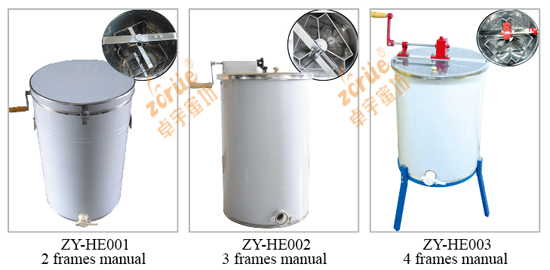 stainless steel 3 frames manual honey extractor from manufacturer