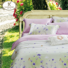 Tencel Printed Bedding Set/Luxurious Jacquard Bed Sheet Setting