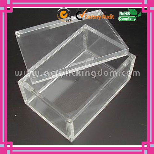 multi purpose simple cheap acrylic boxes with magnet and lid manufacturer