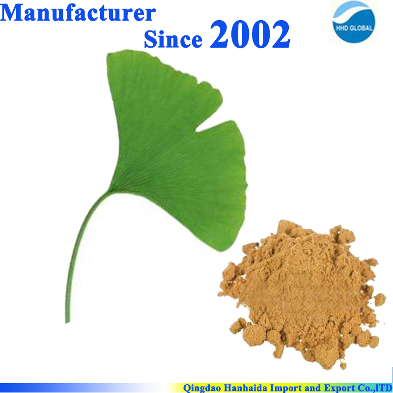 Hot selling high quality nature Ginkgo Biloba Leaf Extract powder with Ginkgoflavon Glycosides 24% and Terpene Lacosides 6%