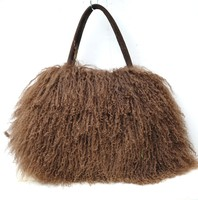CX-H-24B 2014 Trendy Real Mongolian Lamb Fur Women Bags
