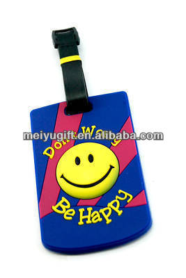 don't worry, be happy smile sunshine Luggage tags