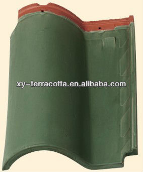 Colourful clay roof tile made in China