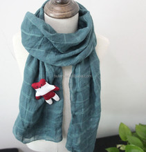 2015 hot sale cute winter kid's scarf with stripe