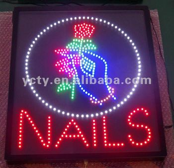 UL Approved LED Nail OPEN Sign Board