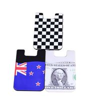 customized multifunction 3M sticker silicone card holder for phone case