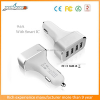 9.6A / 48W Portable Car Charger Rapid 4 USB Ports Car Charger / Smart Sharing IC For smart mobile Phone