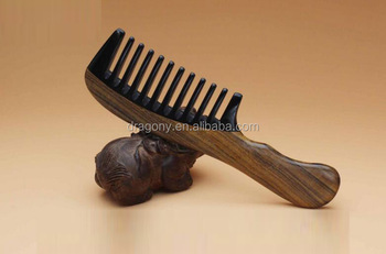 Customized Handmade Wide Tooth Wooden Hair Comb