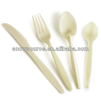 Plastic Disposable flatware packs (plastic knife spoon fork packs)