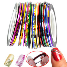 10pcs/lot Color Beauty Rolls Striping Decals Foil Tips Tape Line DIY Design Nail Art Stickers Tools Decorations