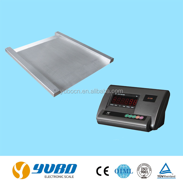 1t 2t stainless steel ultra low profile electronic weighing floor Scale