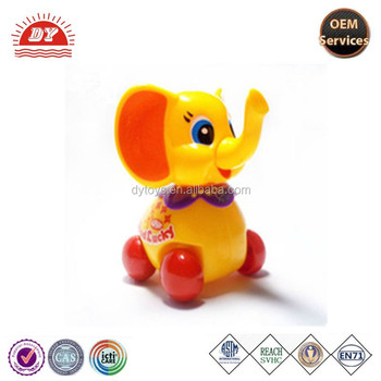 ICTI certificated custom made plastic wheel elephant toys for kids