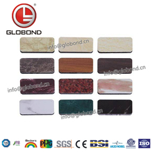 GLOBOND Light Weight Exterior Building Materials Best Sell Marble Finish Aluminum Composite Panel/stone Look Wall Paneling