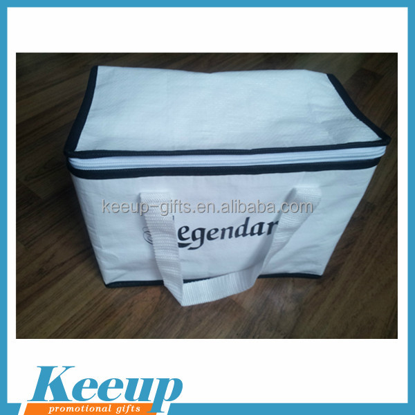 Promotional Non Woven Insulated Foldable Ice or Lunch Cooler Bag Customized