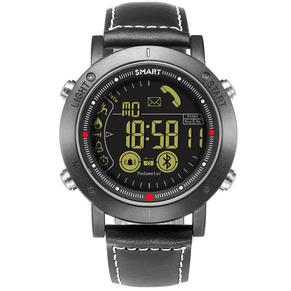 2018 50m Waterproof Pedometer Smart Watch for IOS and Android Phone