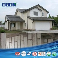 Eco friendly prefabricated fiber cement eps foam sandwich panel house construction