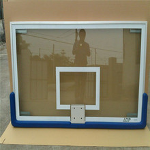 High shock resistance tempered glass 72 inch Basketball backboard with rings and net
