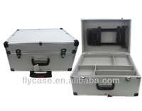 professional aluminum cosmetic trolley case with pallets in side/cute trolley hard case luggage
