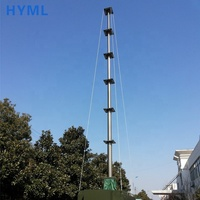 heavy duty telescoping telecommunication antenna tower mast in shelter