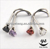 Heart cubic zirconia stone nose screw body piercing jewelry from body piercing factory