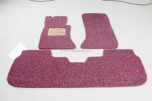 eco-friendly anti-slip pvc coil car mats with double color