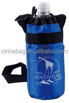 bottle polyester cooler bag with insulated reflective aluminum film lining.