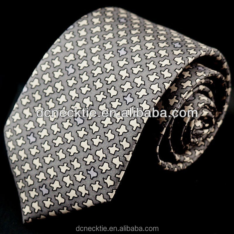 Silk silver neck ties