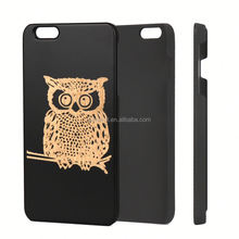 Boshiho Natural Customized Design Eco-friendly Wood Cork Mobile Phone Case For Iphone6, for iphone 6s
