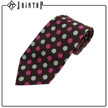 Supplier high quality polyester dot man clip on tie