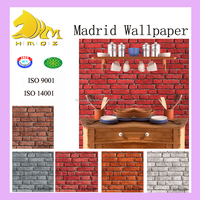 2015 latest 3d vinyl wallpepr for house interior decoration