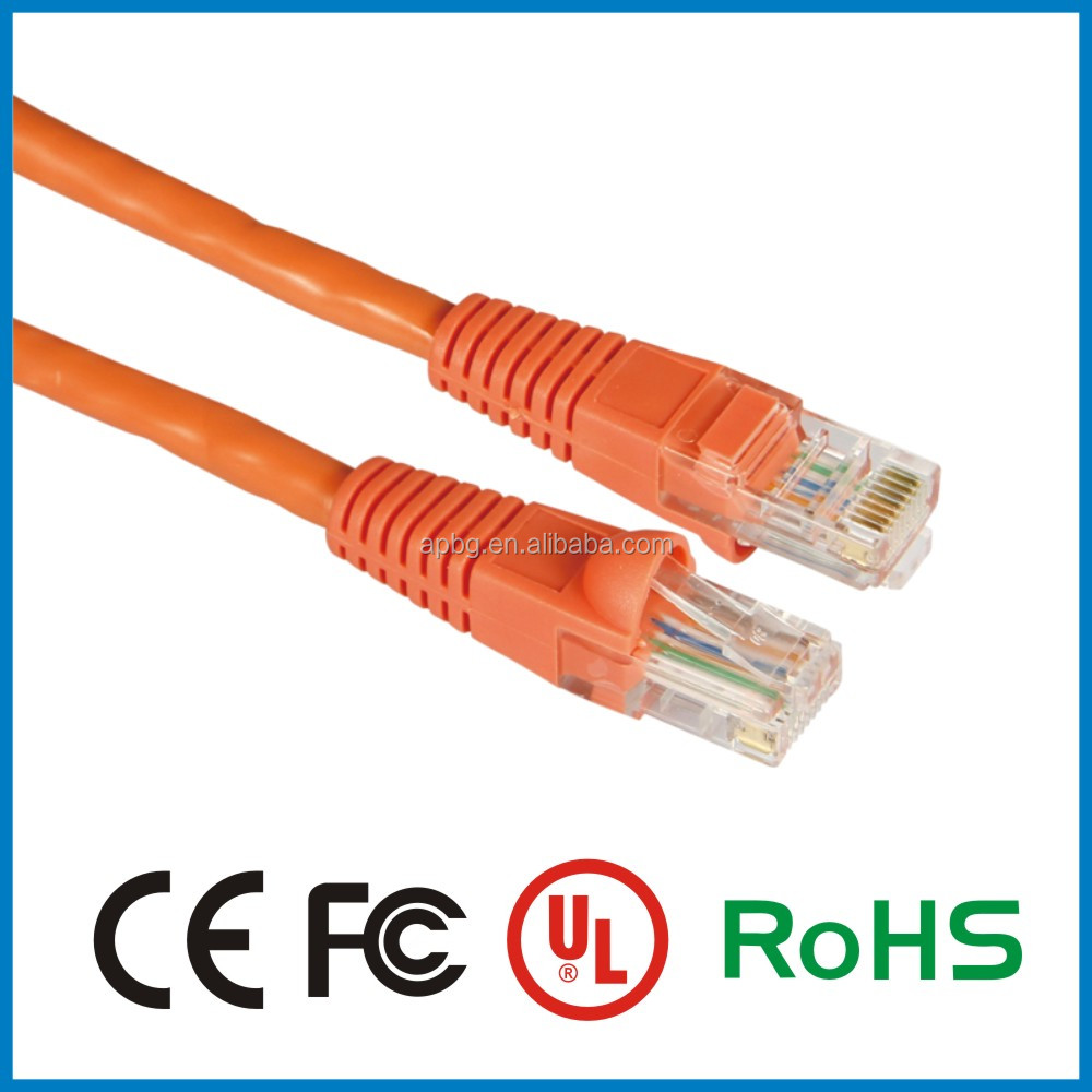 APBG LSZH Rohs 250Mhz 24Awg 4Pair Rj45 Utp Unshielded Bare Copper Internet Cat6 Patch Cord Cable