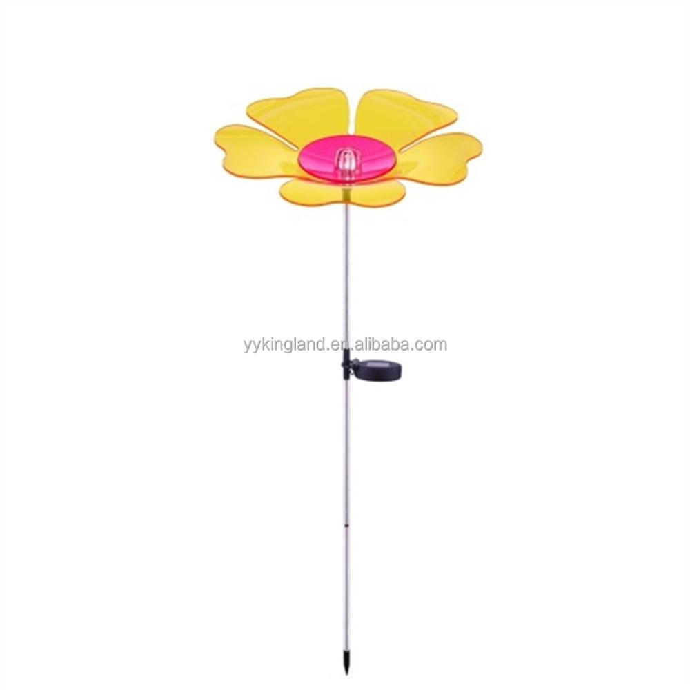 2016 solar hadas acylic flor luces led solar jard n mini for Iluminacion solar jardin