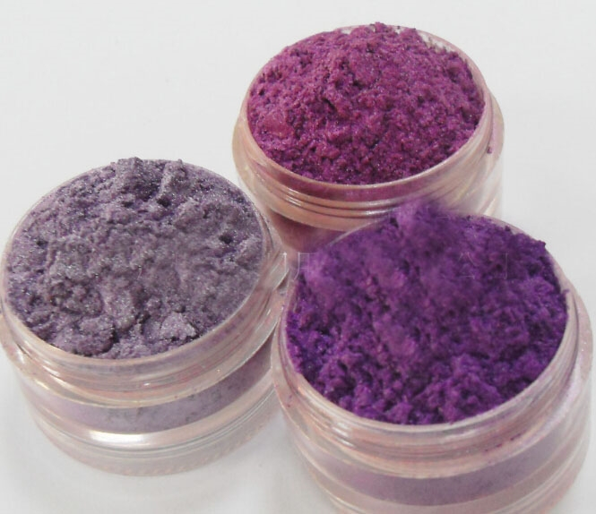Purple mica titanium dioxide pearl pigment for cosmetics eyeshadow lipstick nail polish