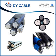 Dayuan low voltage ABC Cable with ACSR Messenger Core 1x35+1x35