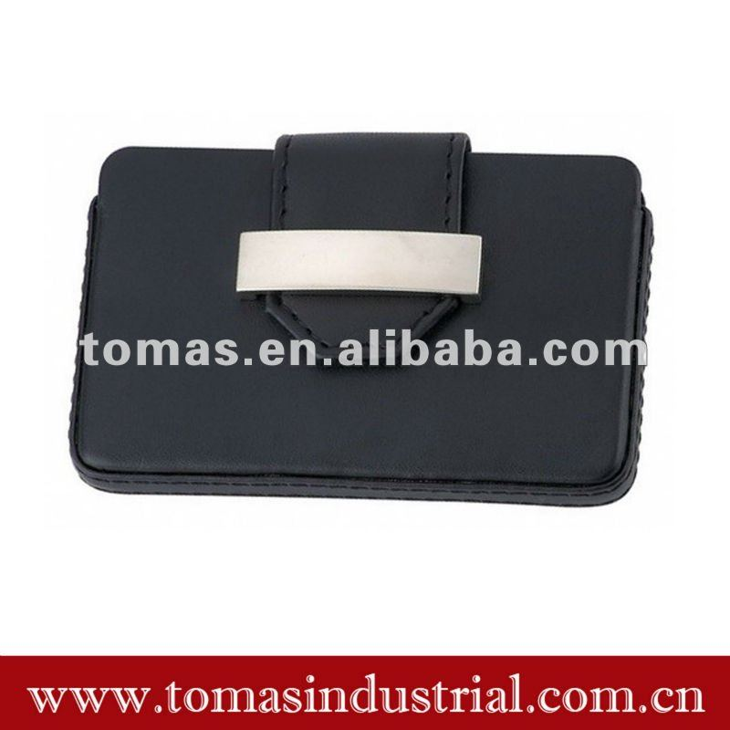 Leather novelty business card holder