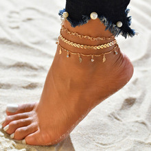 fashion anklets foot jewelry ankle bracelet dainty beach leaf arrow diamond gold anklets for women